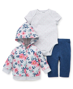 Little Me Roses Hoodie Set - Bloom Kids Collection - Little Me