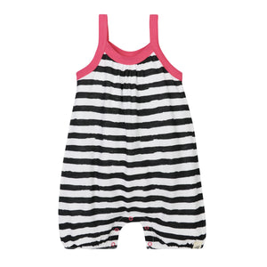 Burt's Bees Painted Stripe Romper - Onyx - Bloom Kids Collection - Burt's Bees