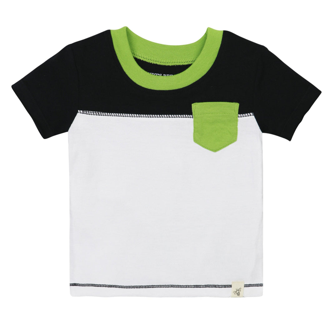 Burt's Bees Colorblock Pocket Tee - Cloud - Bloom Kids Collection - Burt's Bees