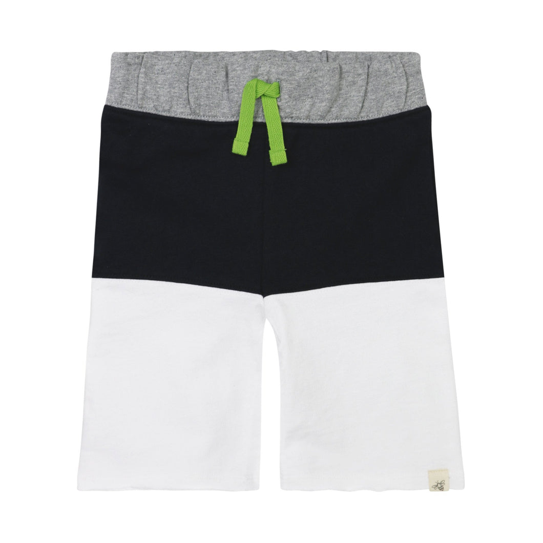 Burt's Bees French Terry Colorblock Short - Onyx - Bloom Kids Collection - Burt's Bees