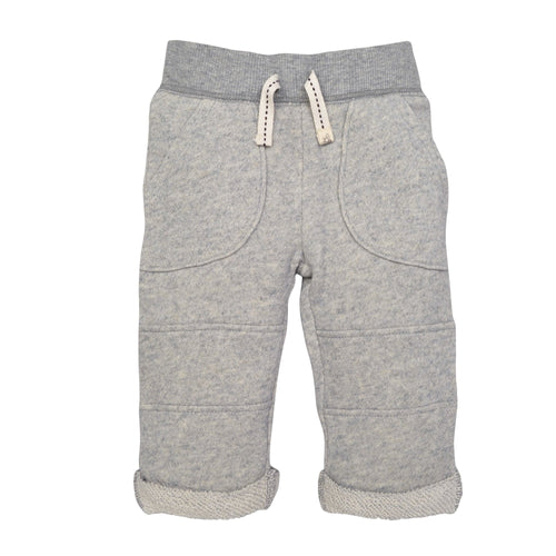 Burt's Bees Loop Terry Rolled Cuff Pant - Heather Grey - Bloom Kids Collection - Burt's Bees