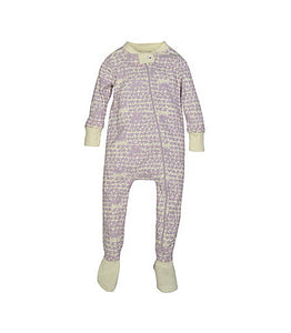 Burt's Bees Clustered Star Organic Cotton Sleeper - Morning Haze - Bloom Kids Collection - Burt's Bees