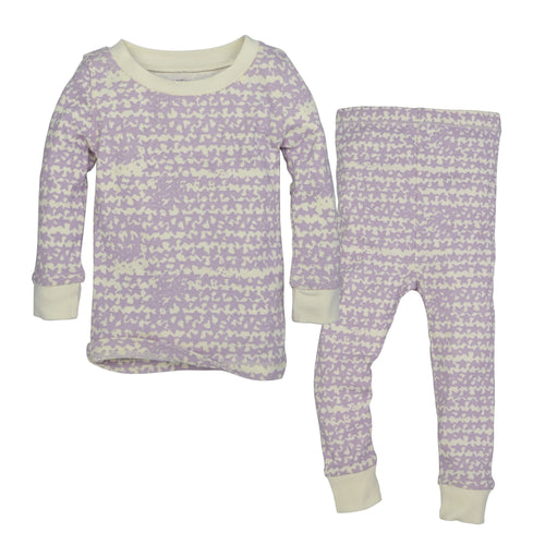 Burt's Bees Clustered Star Organic Cotton Pajamas - Morning Haze - Bloom Kids Collection - Burt's Bees