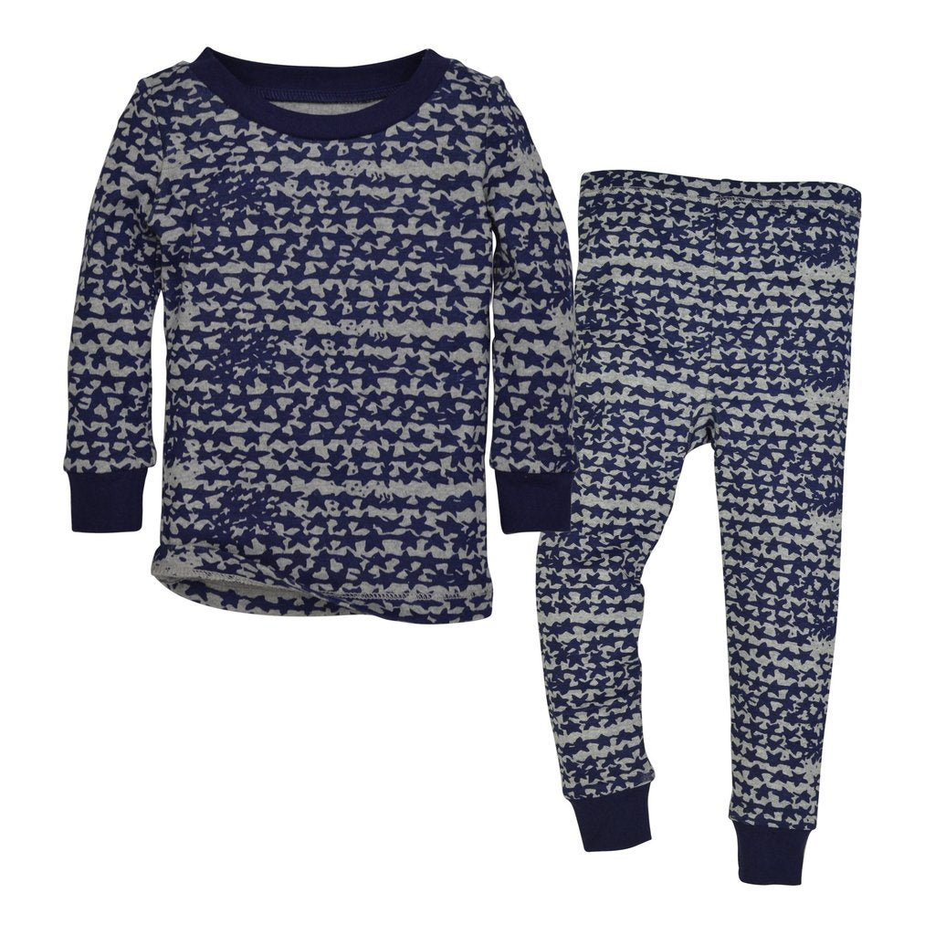 Burt's Bees Clustered Star Organic Cotton Pajamas - Starry Night - Bloom Kids Collection - Burt's Bees