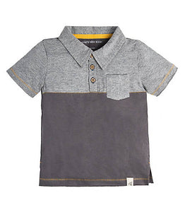 Burt's Bees Pocket Polo Tee - Slate - Bloom Kids Collection - Burt's Bees