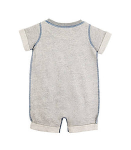 Burt's Bees Rolled Cuff Romper - Heather Grey - Bloom Kids Collection - Burt's Bees