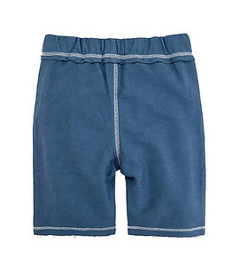 Burt's Bees Reverse French Terry Short - Blue Star - Bloom Kids Collection - Burt's Bees