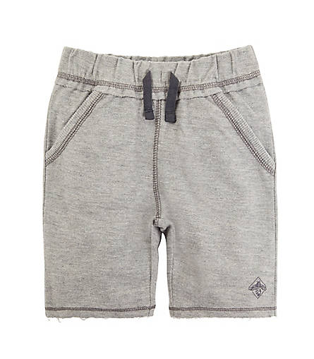 Burt's Bees Reverse French Terry Short - Heather Grey - Bloom Kids Collection - Burt's Bees