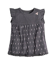 Burt's Bees Ikat Flutter Tee & Capri Set - Slate - Bloom Kids Collection - Burt's Bee