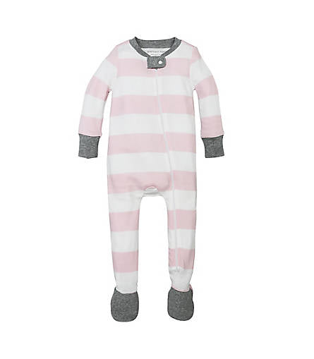 Burt's Bees Rugby Stripe Sleeper - Blossom - Bloom Kids Collection - Burt's Bees