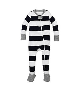 Burt's Bees Rugby Stripe Sleeper - Midnight - Bloom Kids Collection - Burt's Bees