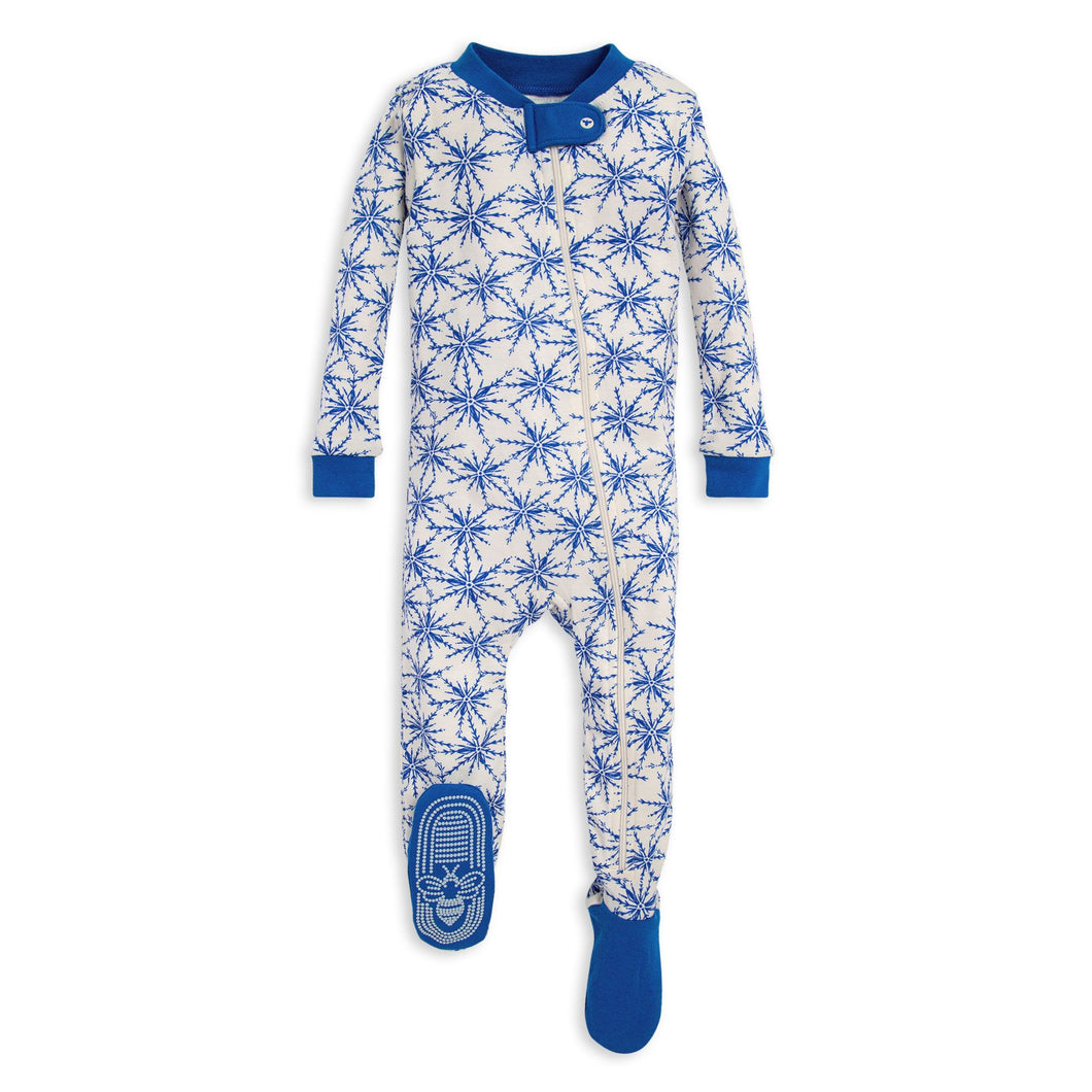 Burt's Bees Icy Snowflakes Sleeper - Bluebird - Bloom Kids Collection - Burt's Bees