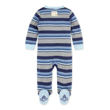 Burt's Bees Foothills Stripe Organic Baby Zip Front Loose Fit Pajamas - Icicle