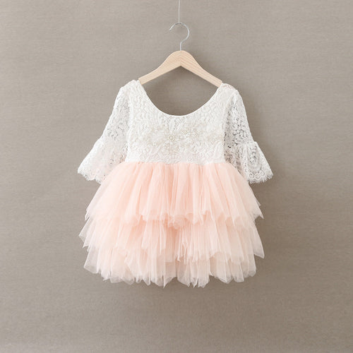 The Brinley Dress - Blush - Bloom Kids Collection - Bloom Kids Collection