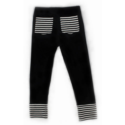 Moon + Beck Signature Pant - Black - Bloom Kids Collection - Moon + Beck