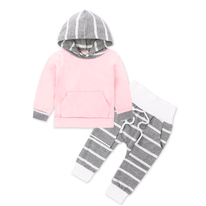Light Pink and Grey Jogger Set - Bloom Kids Collection - Bloom Kids Collection
