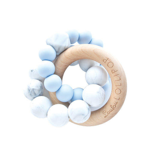 Loulou Lollipop Trinity Teether - Baby Blue - Bloom Kids Collection - Loulou Lollipop