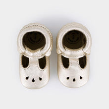 Freshly Picked Platinum Mary Jane Moccasins - Bloom Kids Collection - Freshly Picked