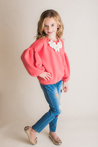 Maeli Rose Full Sleeve Coral Top - Bloom Kids Collection - Maeli Rose