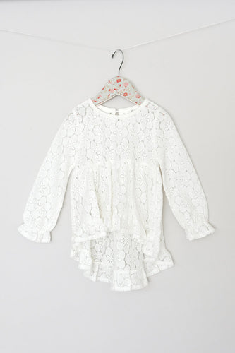 Maeli Rose White Lace Tunic with Cami