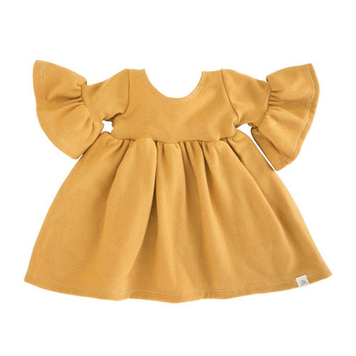 Lulu + Roo Bell Dress - Marigold - Bloom Kids Collection - Lulu + Roo