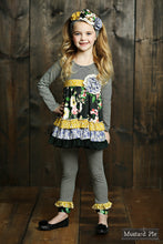 Mustard Pie English Blue Mia Tunic - Black Stripe - Bloom Kids Collection - Mustard Pie