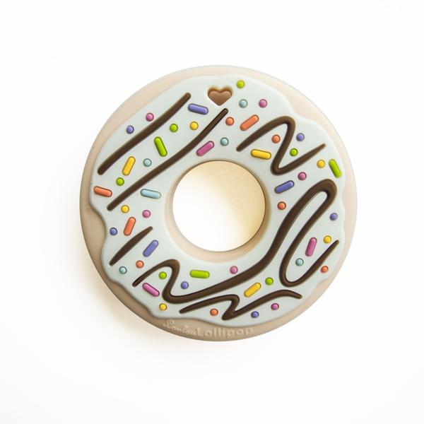 Loulou Lollipop Teether - Mint Donut - Bloom Kids Collection - Loulou Lollipop