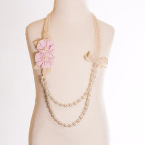 ML Kids Lace Flower Necklace - Pink - Bloom Kids Collection - ML Kids
