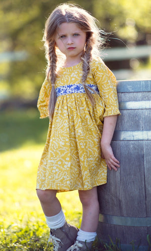 Mustard Pie Omni Dress - Golden Blue - Bloom Kids Collection - Mustard Pie
