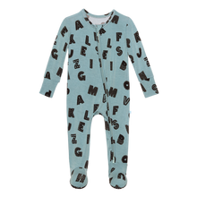 Posh Peanut Footie Zippered One Piece - Alpha