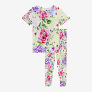Posh Peanut Ruffled Cap Sleeve Loungewear - Georgina