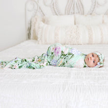 Posh Peanut Infant Swaddle and Headwrap Set - Erin