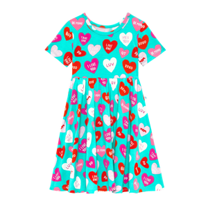 Posh Peanut Short Sleeve Twirl Dress - Valerie