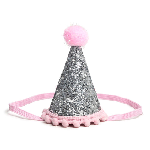 Sweet Wink Silver/Pink Party Hats - Bloom Kids Collection - Sweet Wink