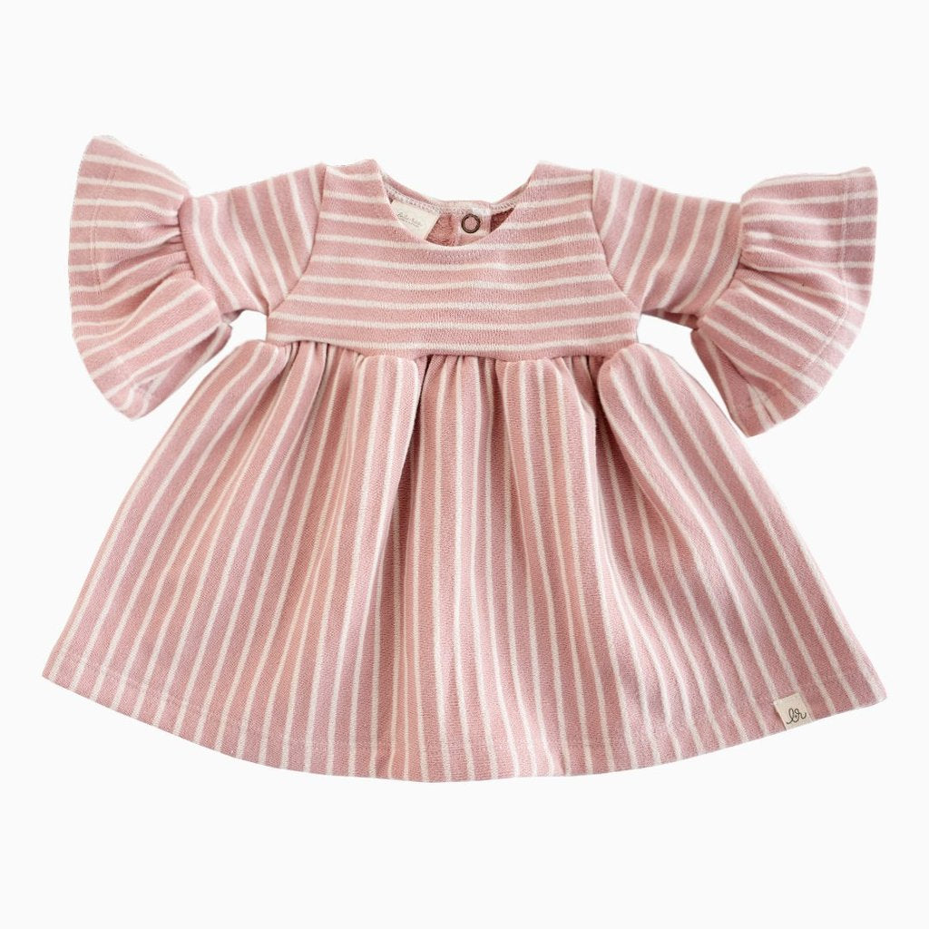 Lulu + Roo Bell Sleeve Dress - Pearl Stripe
