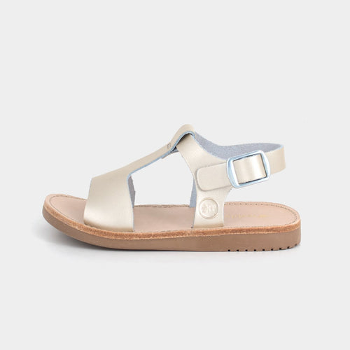 Freshly Picked Platinum Malibu Sandal - Bloom Kids Collection - Freshly Picked