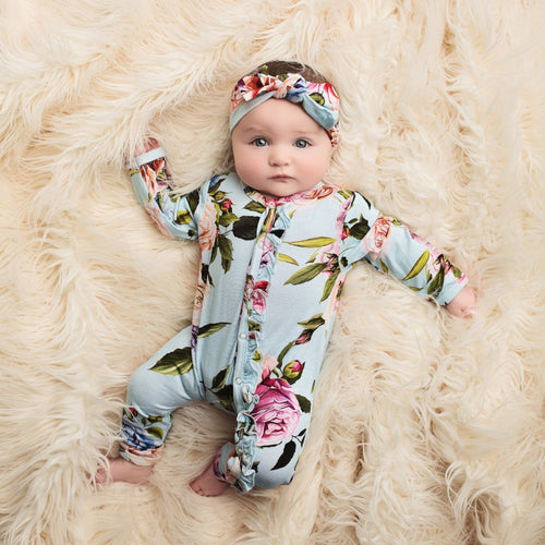 Posh Peanut Ruffle One Piece - Country Rose - Bloom Kids Collection - Posh Peanut