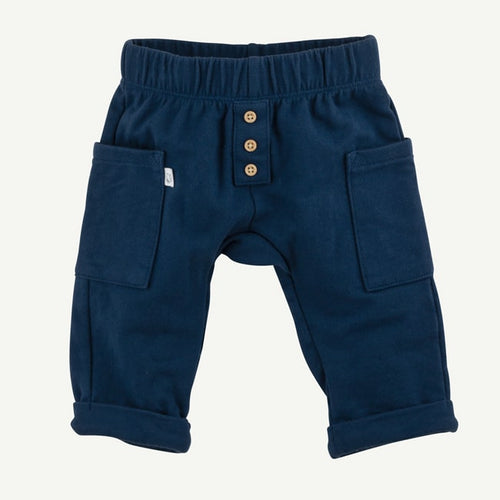 Oliver and Rain Roomy-Fit Pocket Pants - Navy
