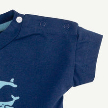 Oliver and Rain Whale Graphic Short Sleeve Tee - Navy - Bloom Kids Collection - Oliver and Rain
