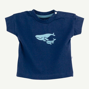 Oliver and Rain Whale Graphic Short Sleeve Tee - Navy