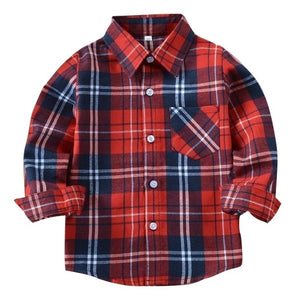 Plaid Button-Up - Bloom Kids Collection - Bloom Kids Collection