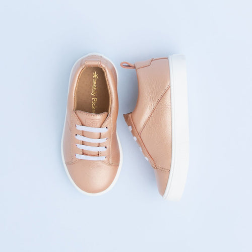 Freshly Picked Classic Lace Up - Rose Gold - Bloom Kids Collection - Freshly Picked