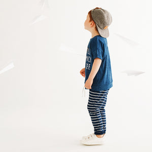 Miles Baby Striped Indigo Wash Jogger - Bloom Kids Collection - Miles Baby