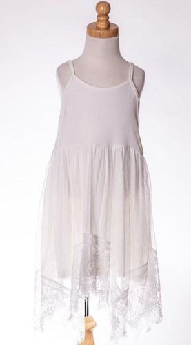 ML Kids Lace Tank Dress - White
