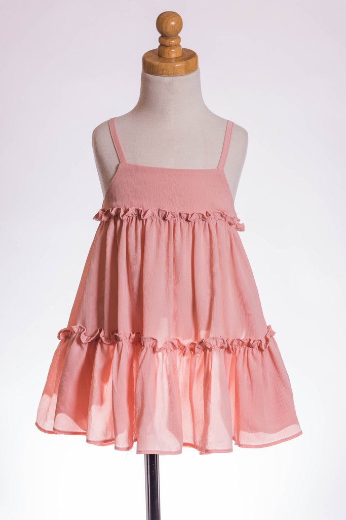 ML Kids A Line Dress - Blush - Bloom Kids Collection - ML Kids