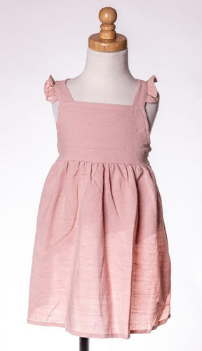 ML Kids Criss Cross Back Dress - Blush - Bloom Kids Collection - ML Kids