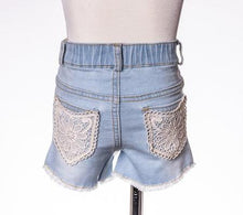 ML Kids Distress Lace Pocket Shorts - Bloom Kids Collection - ML Kids