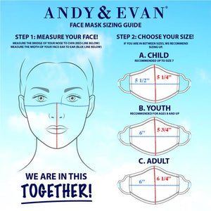 Andy & Evan 4 Pack Face Masks - 3 Layer with Filter Pocket - Girl Mix 1 (8 Years+)
