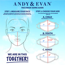 Andy & Evan 4 Pack Face Masks - 3 Layer with Filter Pocket - Stripe/Splatter Paint (8 Years+)