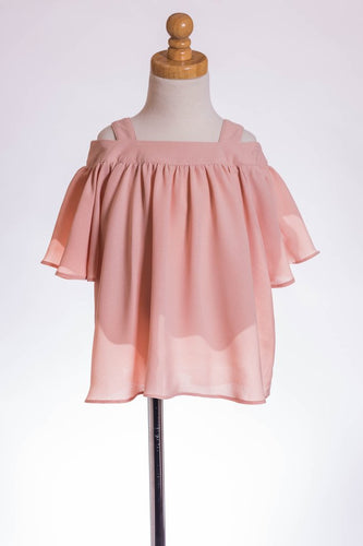ML Kids Cold Shoulder Tunic - Blush - Bloom Kids Collection - ML Kids